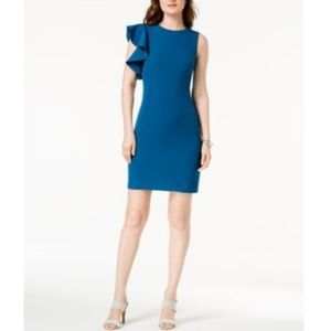 f4a34dc41d13de Julia Jordan Women s Ruffle-Trimmed Sheath Dress